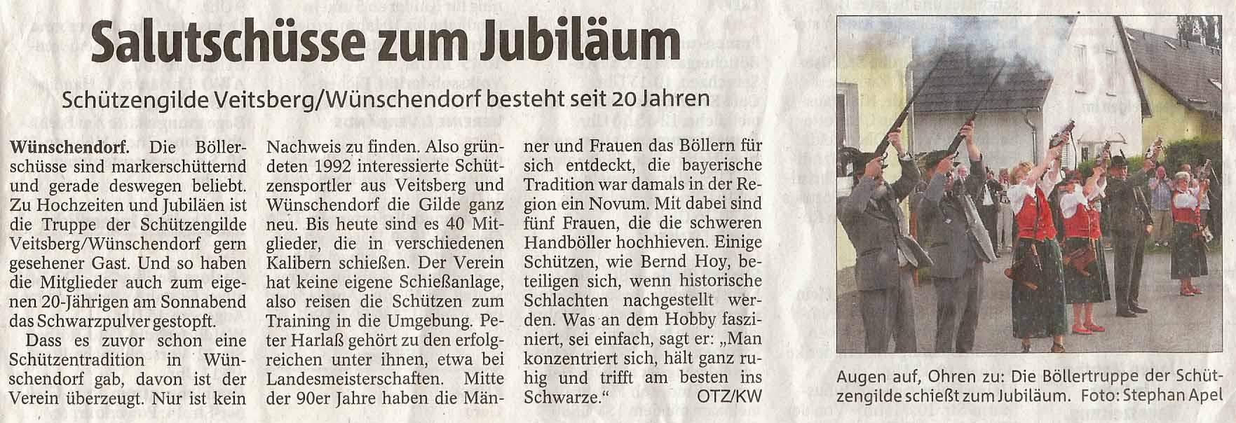 Zeitungsausschnitt der OTZ v.25.06.2012