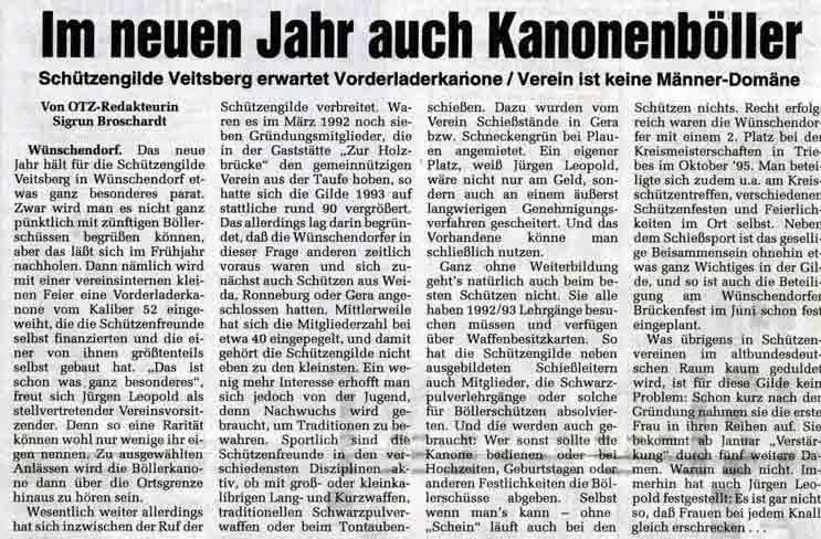 Zeitungsausschnitt OTZ v. 02.02.1996